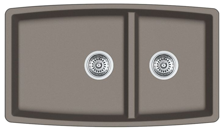 Kitchen: Composite sink undermount (love the color with the greige kitchen and venetian bronze hardware)