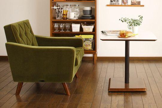 Karimoku 60 Cafe Table & Lobby Chair 2-seater sofa.