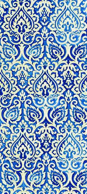 Blue And White Print Textile Abstract Pattern Love This