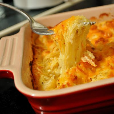 Spaghetti Squash AuGratin - This sounds delicious and everyone at my house like spaghetti squash. winner!