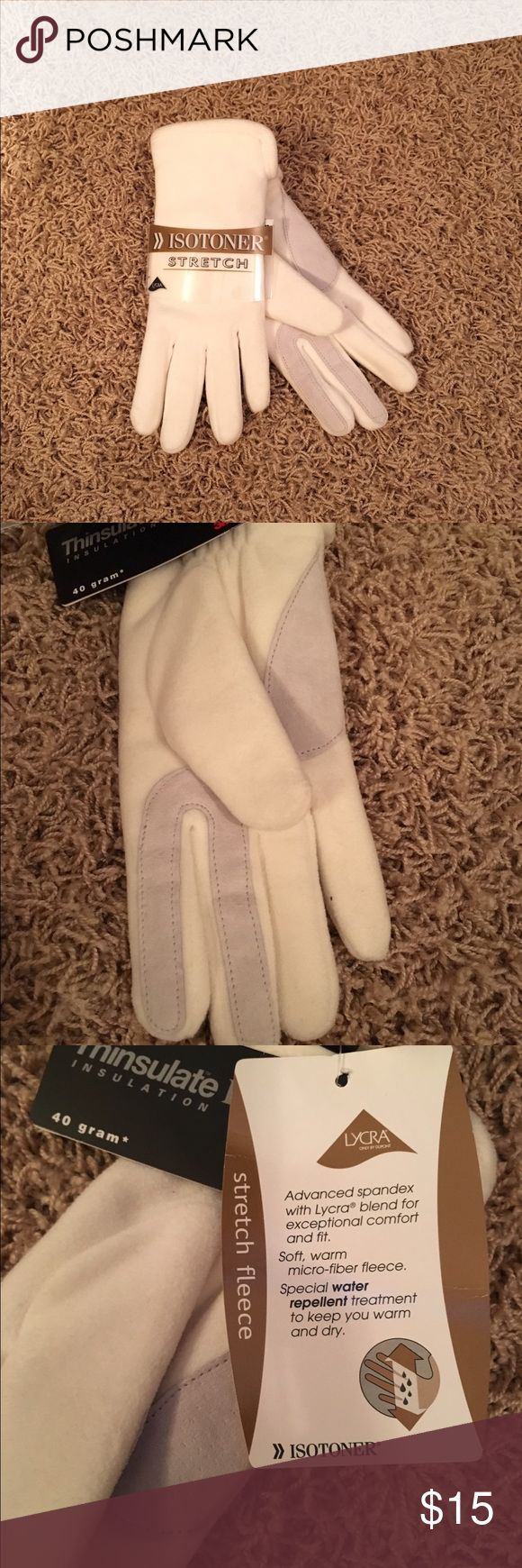 Driving gloves isotoner - White Gloves By Isotoner Nwt Nwt
