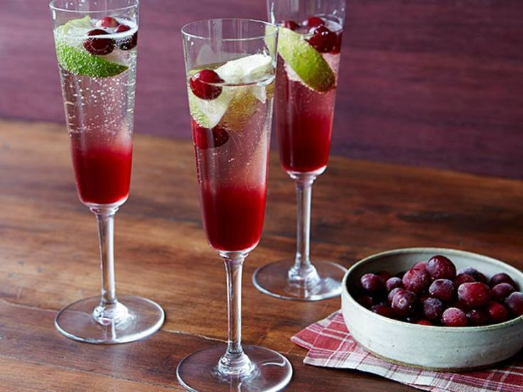 Cranberry Champagne Cocktail recipe from Tyler Florence via Food Network
