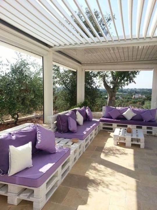 Oltre 25 fantastiche idee su cuscini per esterni su for Pallet arredo giardino