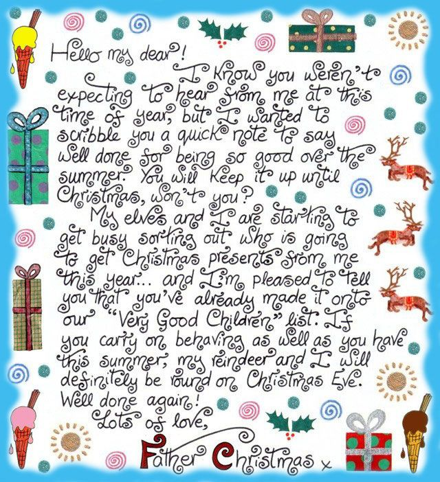 Best Santa Letters Images On   Xmas Christmas Images