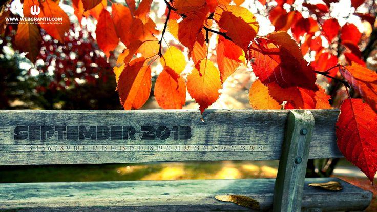 September Desktop Wallpaper Calendar 2013 (2): View HD Image of