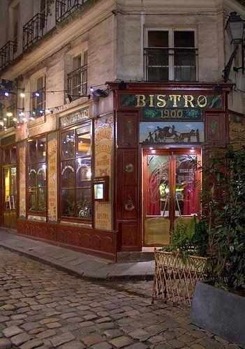 ~~Bistro 1900 ~ Historic cafe, Cour du Commerce St. Andre, Paris, France