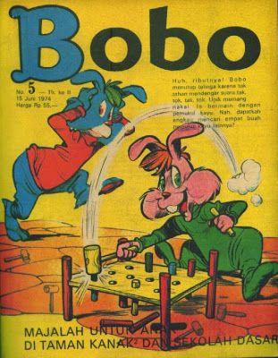 Koleksi Tempo Doeloe: Majalah anak-anak Bobo jadul th.1974, Edisi No.1 s/d No.33 lengkap berurutan