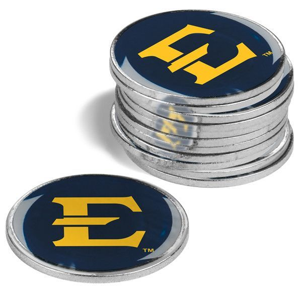 East Tennessee State Buccaneers - 12 Pack Ball Markers
