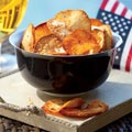 These Chile-Cheese Yucca Chips are the perfect homemade snack for game day. #GamedayParmesan