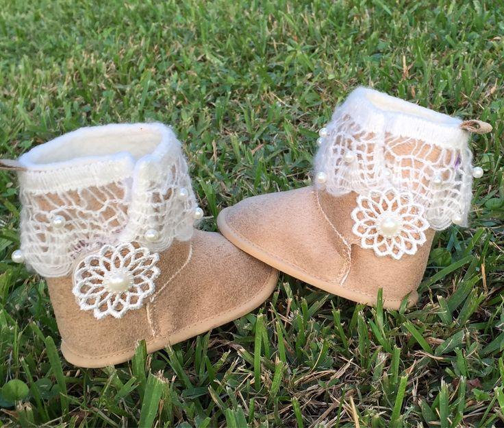 Baby Tan Suede Uggs, Baby Girl Winter Boots, Infant Soft Sole Boots, Booties, Moccasins, Baby Shower Gift, Crib Boots, Ugg Boots,Photo Prop by SundayChildBoutique on Etsy https://www.etsy.com/listing/542588554/baby-tan-suede-uggs-baby-girl-winter