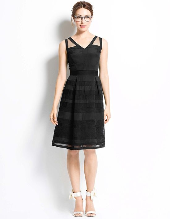 Sleeveless V-neck bridesmaid dress with pleated skirt | 325056 from Ann Taylor Weddings & Events