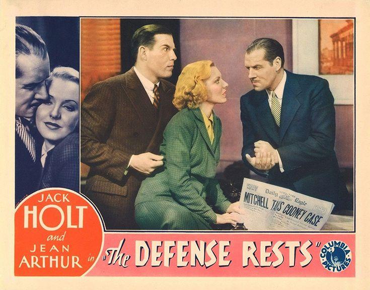 Jean Arthur, Jack Holt, and Nat Pendleton in The Defense Rests (1934)