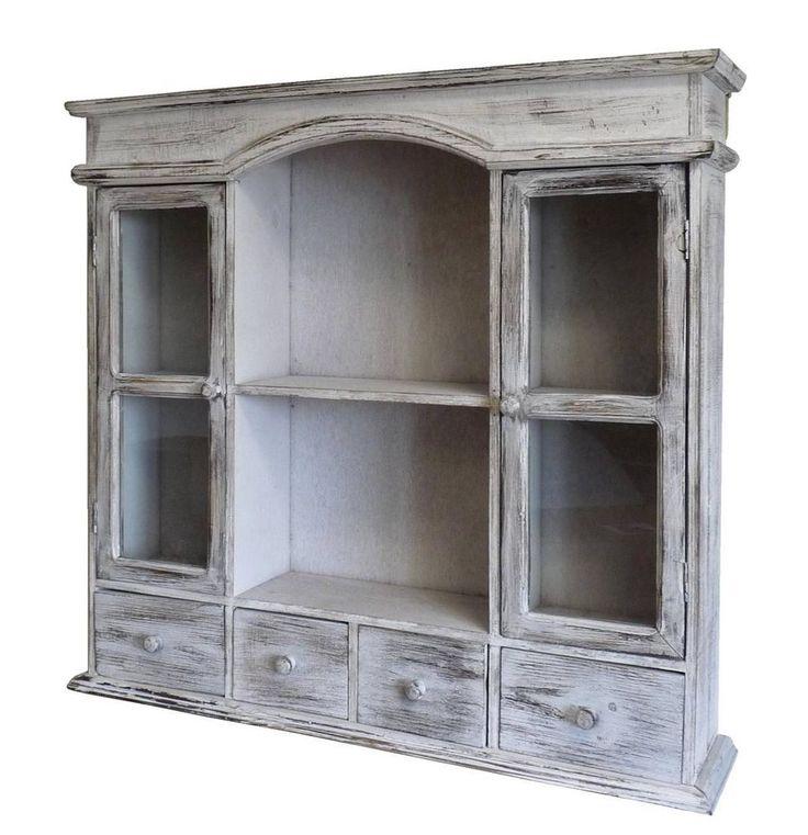 style ancienne tag re armoire vitrine a tiroir murale en
