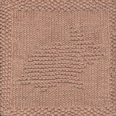 Bunny Knit Dishcloth Pattern