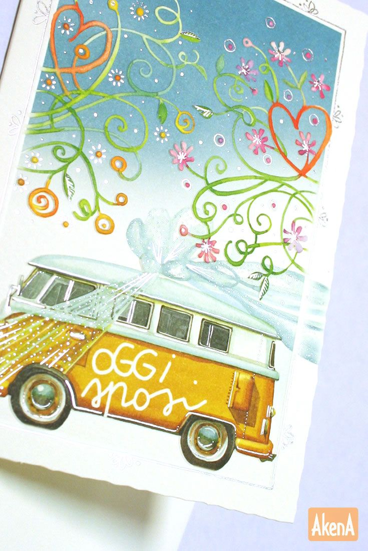 Oggi sposi!  Mini biglietto della linea Goccioline.