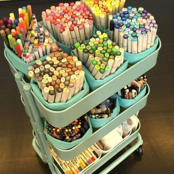 Awesome 18 organizational hack to transform your craft room decoratio.co / … Hav …