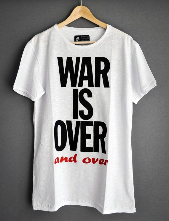 War Is Over and over by PlayShirts on Etsy #play_shirts #playshirts #tshirts #war_is_over #johnlennon #john_lennon #give_peace_a_chance #billboard #streetart