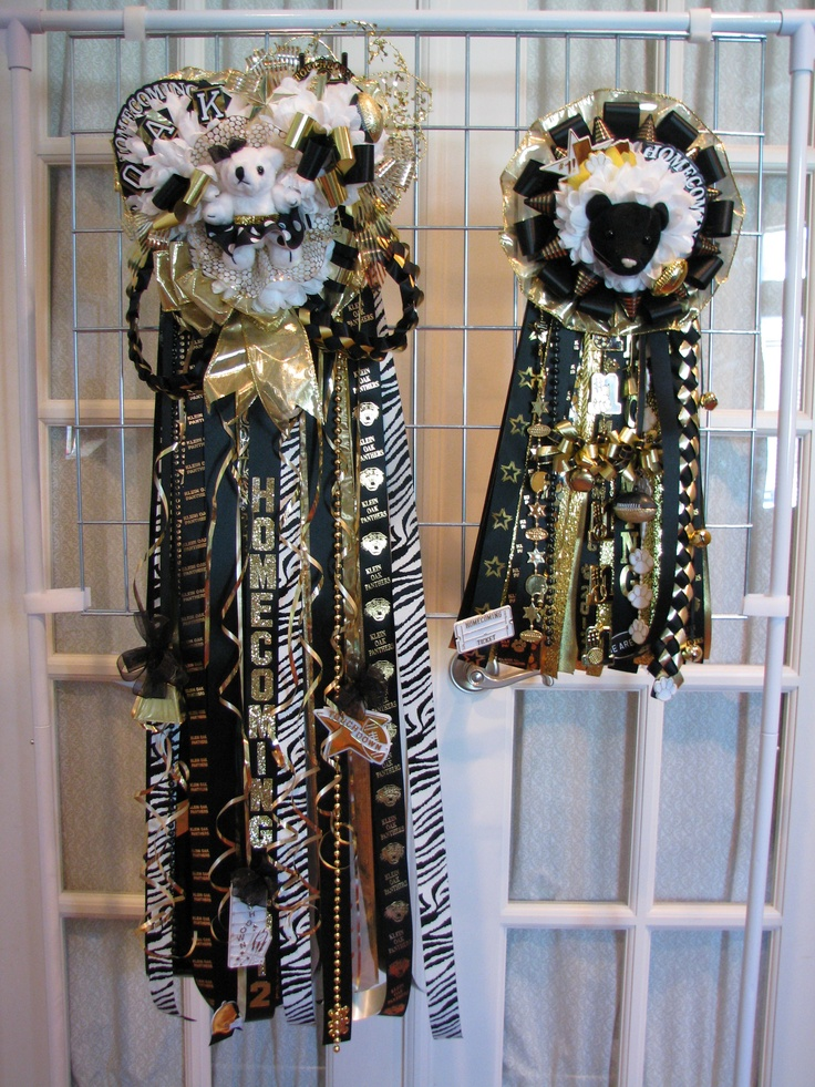 Homecoming Mum set black, good, animal print