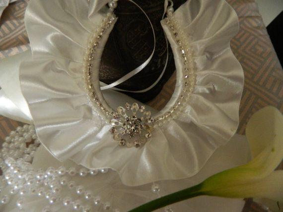 Wedding Bridal Horseshoe satin charm by WeddedBlissBridal on Etsy