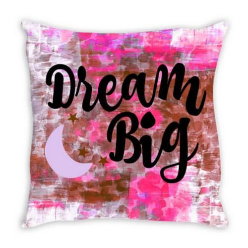 DREAM BIG Pink Tan Suede Throw Pillow Cushion Cover, #cushioncover #pillowcover #ebiemporium #dreambig #dream #pink #pinkpillow #pinkdecor #homedecor #decor #decorativepillow #decoration #typography #shopping #forthehome #colorfuldecor #houseandhome #artdecor