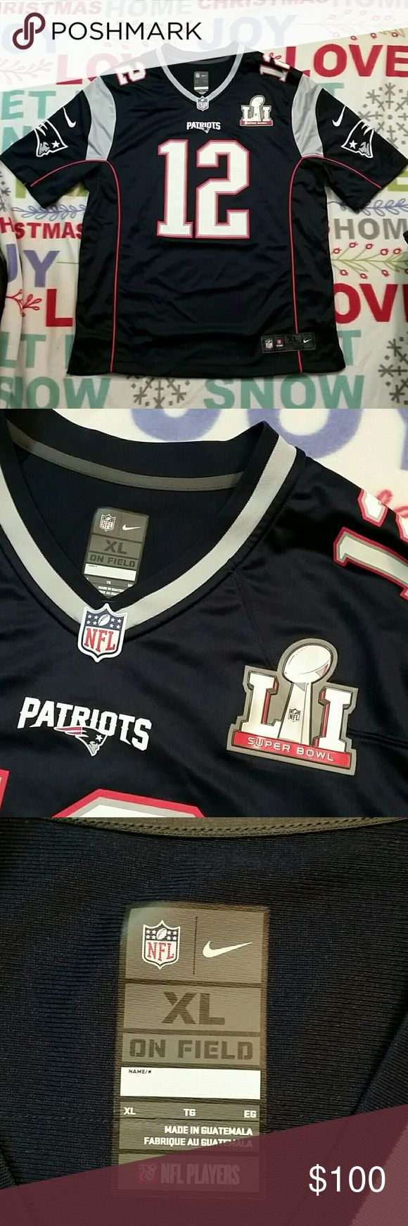 Men's Patriots Brady Nike Super Bowl L1 NFL Jersey In Real good condition. Men's New England Patriots Tom Brady Nike Navy Super Bowl LI Bound Game Jersey.Retail for $160 and up. Nike Shirts