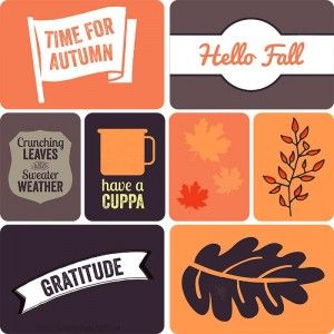 Free Autumn Project Life Cards