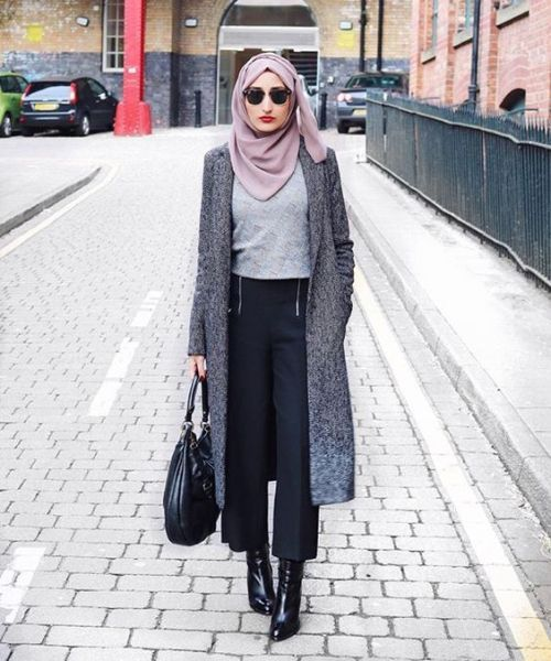 long-grey-trench-coat-winter-chic-hijab