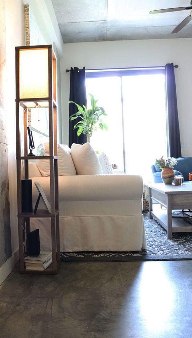 Better Homes And Gardens Crossmill Shelf Floor Lamp With Led Bulb Included Walmart Com Living Room Decor Modern Floor Lamp With Shelves Loft Style Apartments