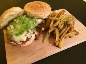Great homemade cheeseburger!