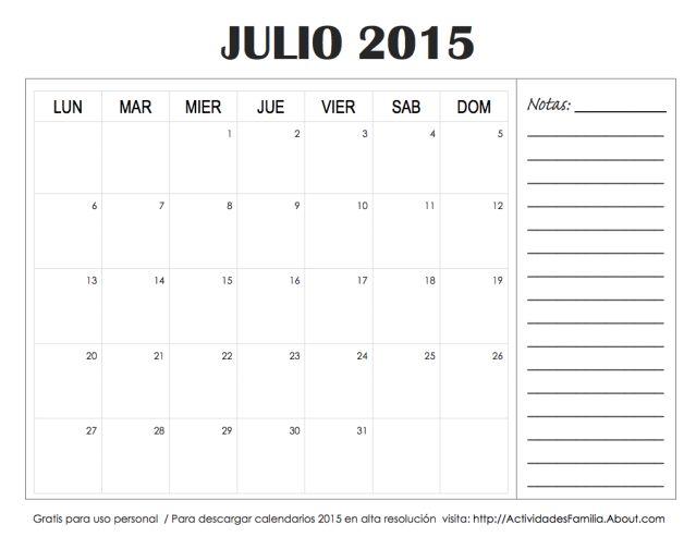 67 best Calendarios para imprimir images on Pinterest   Ideas para ...