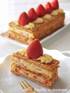 苺のミルフィーユ♪ -お菓子ミルフィーユの簡単な作り方