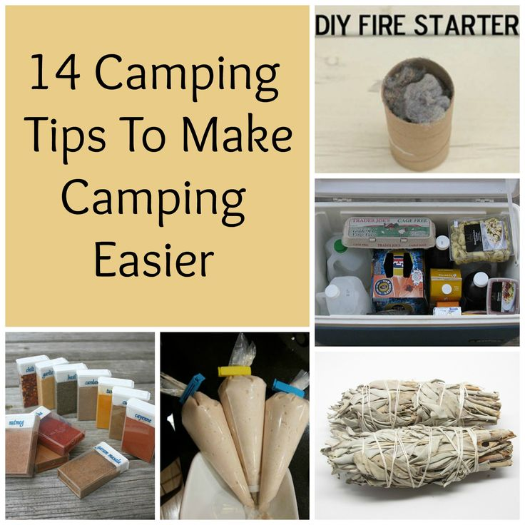 These 14 camping tips will help to make camping easier and they aren't too expensive to do.