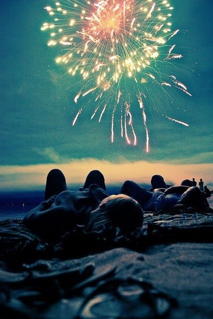 love this! this summer of my girls watching fireworks!!