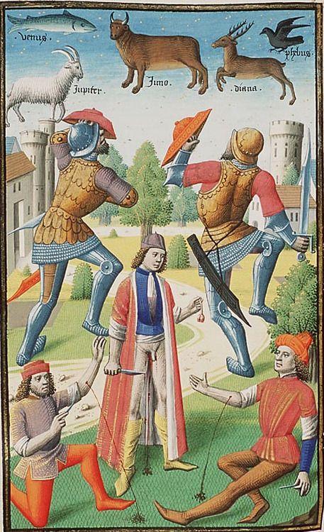 The Hague, MMW, 10A 11 f. 305r. Augustine, La Cité de Dieu (Vol. I). Translation from the Latin by Raoul de Presles. Paris, Maïtre Fra...