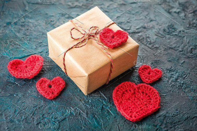 Crochet valentine hearts. by Irrin0215 on @creativemarket