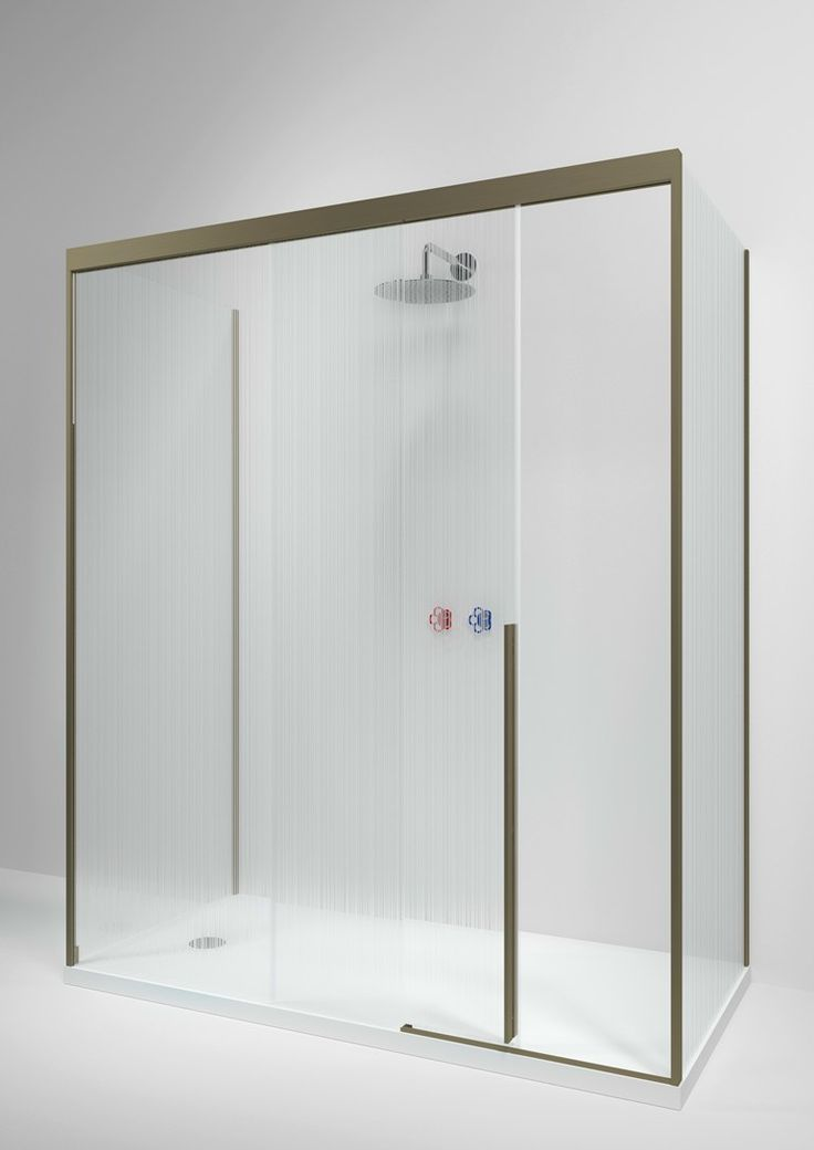 Rectangular glass shower cabin with sliding door SLIDING by Boffi design Piero Lissoni