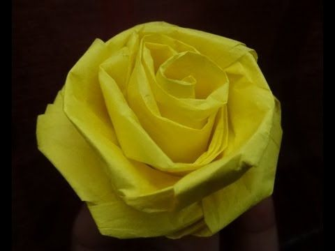 ▶ How to make a rose with tissue paper (quick and easy) - YouTube