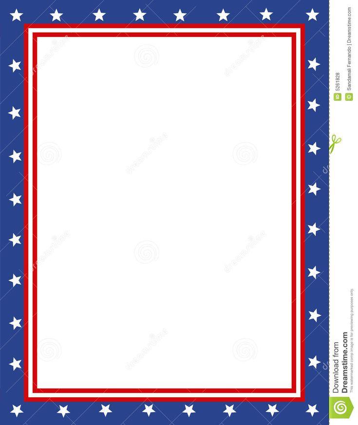 Free Patriotic Page Borders | Patriotic border | sponsored ...  Free Patriotic ...