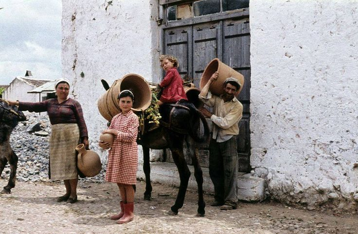 Potter's family in Crete, 1960's. Photo from LIFE magazine.