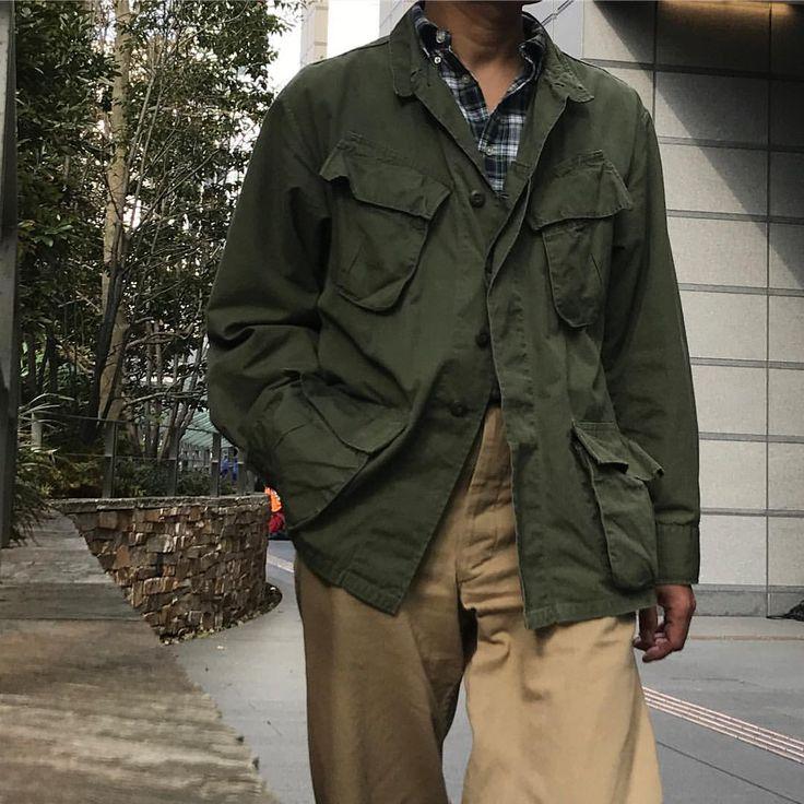 11月なのに これで全然寒くない ootd ootdmen menstyle mensfashion junglefatigue junglefatiguejacket poloralphlauren usarmychino ジャングル 古着 ファッション ジャケット メンズファッション