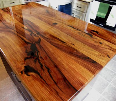 Wood Countertop With Stove : ideas about Wood Countertops on Pinterest Wood kitchen countertops ...