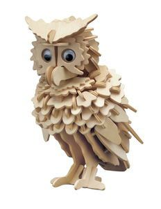 owl kit for children promote your child by KidsWoodGames on Etsy