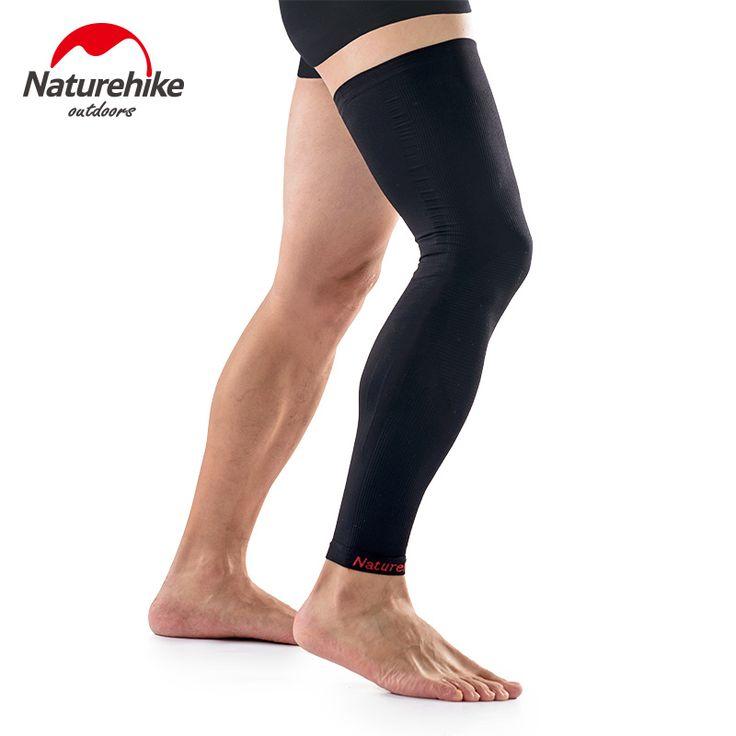 Naturehike 1 piece of 70D Nylon Men Women Compression Sleeve Leg Warmer Sport Legwarmers Cover For Football Cycling Running M-XL