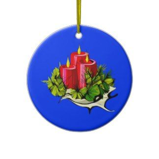 Christmas Candles And Decorations Christmas Tree Ornament