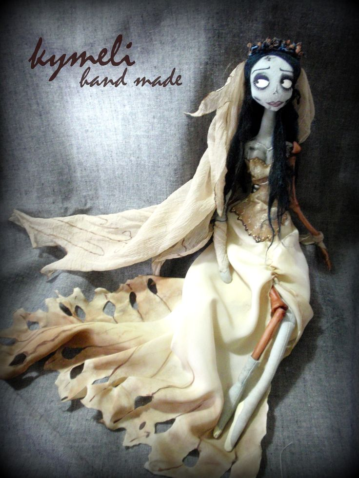 Emily The Corpse Bride  OOAK Art Doll by kymeli