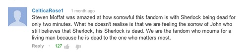 We are the fandom who mourns for a living man because he is dead to the one who matters most.