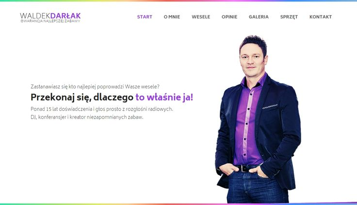 AIAC Agency for DJ Waldek Darłak | http://waldekdarlak.pl | http://aiac.pl | #webdesign #dj #djwebsite #violet #rainbow #www #aiac