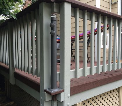 Mount a Deck Umbrella to Save Space | Home Automation Guru