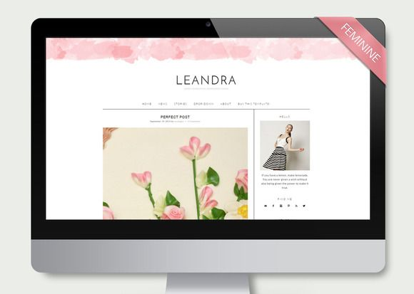 Leandra - Wordpress Theme Blog by LucaLogos on Creative Market