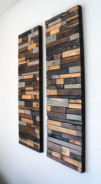 Modern Reclaimed Wood Wall Art by RusticWarmthDecor on Etsy